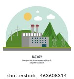 plant sun windmill mountain... | Shutterstock .eps vector #463608314