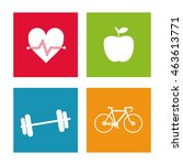 healthy lifestyle concept... | Shutterstock .eps vector #463613771