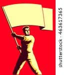 vintage soviet socialist... | Shutterstock .eps vector #463617365