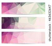 elegant horizontal banners with ...   Shutterstock .eps vector #463632647