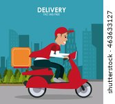 delivery and shipping concept... | Shutterstock .eps vector #463633127