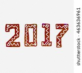 2017 grunge stamp. new year... | Shutterstock . vector #463636961