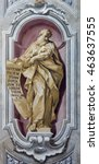 Small photo of BRESCIA, ITALY - MAY 23, 2016: The fresco of prophet Daniel of Chiesa di Sant'Afra church by Sante Cattaneo (1739 - 1819)