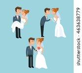 couple cartoon girl boy man... | Shutterstock .eps vector #463638779
