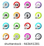 hotel web icons for user... | Shutterstock .eps vector #463641281