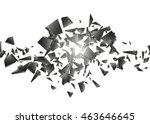black explosion on white... | Shutterstock .eps vector #463646645