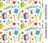 back to school. school supplies ... | Shutterstock .eps vector #463650014