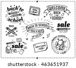 back to school design... | Shutterstock .eps vector #463651937