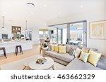 luxury house interior focusing... | Shutterstock . vector #463662329