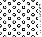 abstract polka dot pattern with ... | Shutterstock .eps vector #463665191