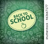 back to school. school icons on ... | Shutterstock . vector #463667177