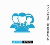 waiters vector. isolated blue... | Shutterstock .eps vector #463667771