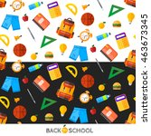 vector back to school set of...