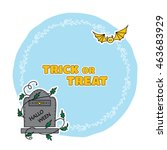 vector halloween illustration ... | Shutterstock .eps vector #463683929