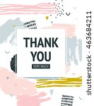 vector thank you card with... | Shutterstock .eps vector #463684211