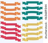 set of  colorful empty ribbons... | Shutterstock .eps vector #463689344