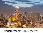bangkok cityscape  business... | Shutterstock . vector #463699391