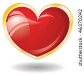valentine's glossy heart on... | Shutterstock . vector #46370242
