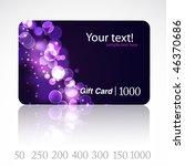 beautiful gift card. vector. | Shutterstock .eps vector #46370686