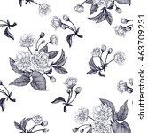 black and white vector... | Shutterstock .eps vector #463709231