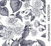 black and white vector... | Shutterstock .eps vector #463709234