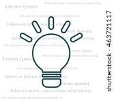 lightbulb line icon. vector...   Shutterstock .eps vector #463721117