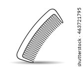 outlined comb vector drawing | Shutterstock .eps vector #463721795
