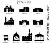 Jerusalem Icons. Al Aqsa Mosque; lions gate; Sesame bread; herods gate; golden gate; david tower; Damascus Gate; Church of Dominus Flevit; Church of All Nations