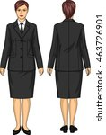 the uniform suit for the woman... | Shutterstock .eps vector #463726901
