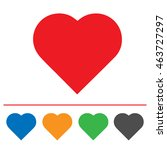 heart shape vector icon eps 10. ... | Shutterstock .eps vector #463727297