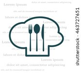 sign with chef hat and spoon ... | Shutterstock .eps vector #463727651