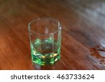 water glass on table  clear and ...   Shutterstock . vector #463733624