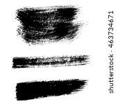 mascara brush stroke. vector... | Shutterstock .eps vector #463734671