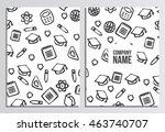 blank cover of magazine  book... | Shutterstock .eps vector #463740707