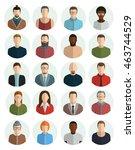 avatars flat vector set icons... | Shutterstock .eps vector #463744529