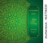 elegant greeting card design.... | Shutterstock .eps vector #463758335