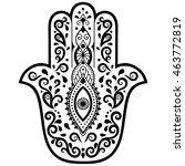 vector hamsa hand drawn symbol | Shutterstock .eps vector #463772819