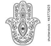 vector hamsa hand drawn symbol   Shutterstock .eps vector #463772825