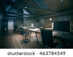 coworking office room with... | Shutterstock . vector #463784549