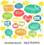 hand lettered words in colorful ... | Shutterstock .eps vector #463794995