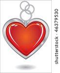 silver trinket souvenir with... | Shutterstock . vector #46379530