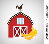 organic banana food in farm... | Shutterstock .eps vector #463802804