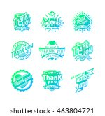 vintage label thank you text... | Shutterstock .eps vector #463804721