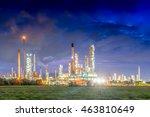 landscape of oil refinery plant ... | Shutterstock . vector #463810649
