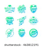 vintage label thank you text... | Shutterstock .eps vector #463812191