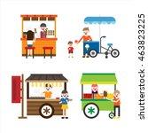 street food vector illustration | Shutterstock .eps vector #463823225