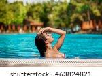 beautiful sexy woman fashion... | Shutterstock . vector #463824821