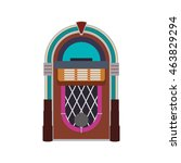 jukebox machine technology... | Shutterstock .eps vector #463829294