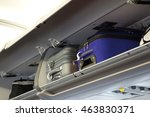 hand luggage compartment with... | Shutterstock . vector #463830371