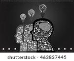 vector illustration flat design ... | Shutterstock .eps vector #463837445